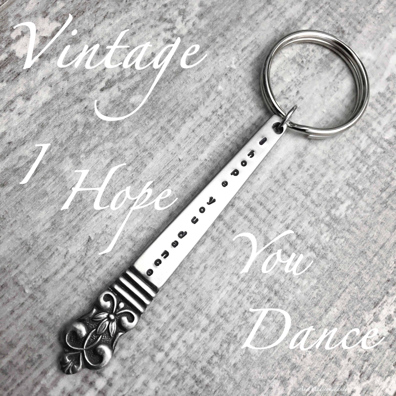 Spoon Keychain Spoon Key Ring Silverware Keychain Spoon Key Chain Berwick aka Diana Pattern Vintage Silverware B Monogram