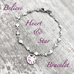 Believe Heart & Star Bracelet