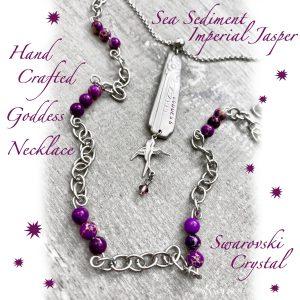 Multi-Layer Purple Jasper & Swarovski Crystal Goddess Necklace