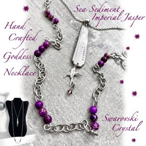 Multi-Layer Purple Jasper & Swarovski Crystal Goddess Necklace