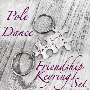 POLE DANCE Friendship Puzzle Piece Keyring Set