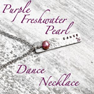 Purple Freshwater Pearl DANCE Necklace