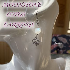 Moonstone Lotus Earrings