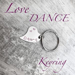 Love Dance Heart Keyring