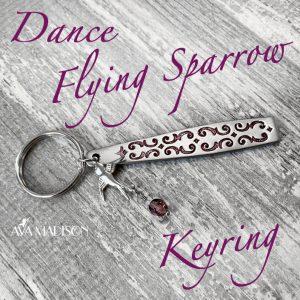 Dance Flying Sparrow Keyring