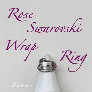 Rose Swarovski Wrap Ring