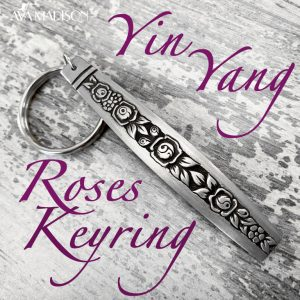 Yin Yang Roses Keyring . To Dance Is To Be Free